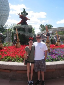 Judd and I at Epcot